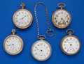Timepieces:Pocket (post 1900), Five - 16 Size Parts Watches. ... (Total: 5 Items)