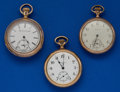 Timepieces:Pocket (post 1900), Three - Elgin 16 Size Pocket Watches. ... (Total: 3 Items)