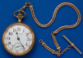 Timepieces:Pocket (post 1900), Illinois, 17 Jewel, 18 Size With Chain. ...