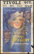 "Movie Posters:Comedy, Page Miss Glory (Warner Brothers, 1935). Window Card (14"" X 22"").Comedy.. ..."