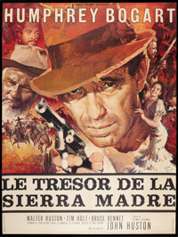 """The Treasure of the Sierra Madre (Warner Brothers, R-1962). French Grande (46"""" X 61.5""""). Drama"""