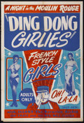 """Movie Posters:Sexploitation, Ding Dong Girlies, Night at the Moulin Rouge (Unknown, 1951). OneSheet (28"""" X 41""""). Sexploitation.. ..."""