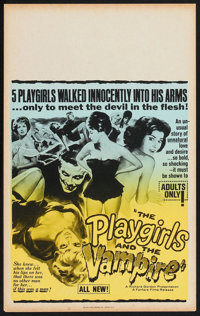 """The Playgirls and the Vampire (Fanfare, 1963). Benton Window Card (14"""" X 22""""). Horror"""