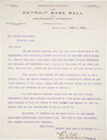Baseball Collectibles:Others, 1903 Ed Barrow Signed Letter - Amazing Content!...