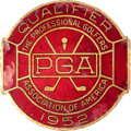 Golf Collectibles:Medals/Jewelry, 1952 PGA Championship Contestant's Badge....