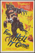 """Movie Posters:Horror, From Hell It Came (Allied Artists, 1957). One Sheet (27"""" X 41""""). Horror.. ..."""