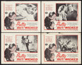 """Movie Posters:Exploitation, Pretty But Wicked (Victoria Films, 1963). Lobby Card Set of 4 (11""""X 14""""). Exploitation.. ... (Total: 4 Items)"""