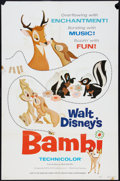 "Movie Posters:Animated, Bambi Lot (Buena Vista, R-1975). One Sheets (2) (27"" X 41"") StyleA. Animated.. ... (Total: 2 Items)"