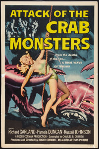 """Attack of the Crab Monsters (Allied Artists, 1957). One Sheet (27"""" X 41""""). Science Fiction"""