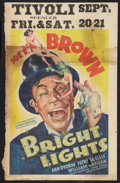 """Movie Posters:Comedy, Bright Lights (Warner Brothers, 1935). Window Card (14"""" X 22"""").Comedy.. ..."""