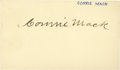 Baseball Collectibles:Others, 1955 Connie Mack Signed Government Postcard....