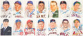 Baseball Collectibles:Others, Baseball Hall of Famers Signed Postcards Lot of 22....