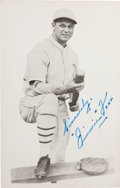 Baseball Collectibles:Photos, Jimmie Foxx Signed Photograph Postcard....
