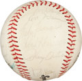 Autographs:Bats, 1980 New York Yankees Team Signed Baseball (21 Signatures)....