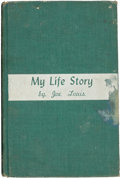 """Boxing Collectibles:Autographs, 1947 Joe Louis Signed """"My Life Story"""" Hardcover Book...."""