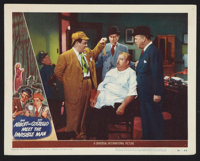 """Abbott and Costello Meet the Invisible Man (Universal International, 1951). Lobby Card (11"""" X 14""""). Comedy..."""