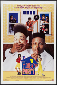"""House Party Lot (New Line, 1990). One Sheets (2) (27"""" X 41"""") and (1) (27"""" X 40""""). Black Films. ... (..."""