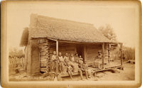 Rare Image of African-American Family on Porch, Boudoir Card, c. 1890