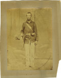 Photography:Studio Portraits, Unusual Large-Format Image of a Union Soldier....