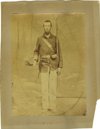 Unusual Large-Format Image of a Union Soldier
