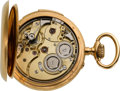 Timepieces:Pocket (pre 1900) , Swiss 18k Gold Repeater For Restoration, circa 1895. ...