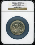 Expositions and Fairs, 1893 World's Columbian Expo Medal, Columbus Lead By Light MS62Prooflike NGC. Eglit-37. White metal, 65mm....