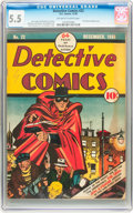 Golden Age (1938-1955):Superhero, Detective Comics #22 (DC, 1938) CGC FN- 5.5 Off-white to white pages....