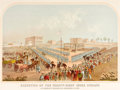 "Military & Patriotic:Civil War, Chromolithograph: ""Execution of the Thirty-Eight Sioux Indians at Mankato Minnesota December 26, 1862.""..."