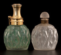 FROM THE ESTATE OF SHIRLEY JACOBS ALTER  LALIQUE A perfume bottle and atomizer for 'Habanito' and 'Le Proven