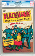 Golden Age (1938-1955):Adventure, Blackhawk #9 (Quality, 1944) CGC NM- 9.2 Off-white to white pages....