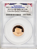 Proof Lincoln Cents, 2009-S 1C Lincoln Early Childhood PR70 Deep Cameo PCGS.LincolnBicentennial PCGS Population (286). NGC Census: (1259). ...