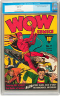 Golden Age (1938-1955):Superhero, Wow Comics #2 Mile High pedigree (Fawcett, 1941) CGC NM 9.4 Off-white pages....