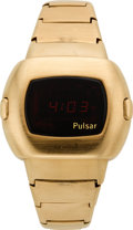 Timepieces:Wristwatch, Pulsar Gold Time Computer Wristwatch With Original Papers, circa1973. ...
