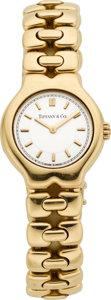 Timepieces:Wristwatch, Tiffany & Co. Lady's Gold Tesoro Bracelet Watch. ...