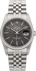 Timepieces:Wristwatch, Rolex Ref. 16220 Gent's Oyster Perpetual Datejust, circa 1991. ...