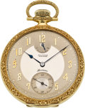 Timepieces:Pocket (post 1900), Waltham Rare Premier Maximus 18K Gold Pocket Watch, circa 1909. ...