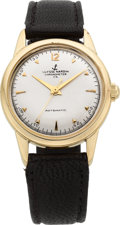 Timepieces:Wristwatch, Ulysse Nardin Gold Automatic Chronometer, circa 1950's. ...