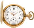 Timepieces:Pocket (pre 1900) , Audemars Freres Gold Quarter Hour Repeater With Chronograph, circa1895. ...