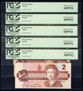Canadian Currency: , BC-55c-i $2 1986. Five Consecutive Examples.. ... (Total: 5 notes)