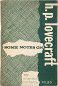 Books:Hardcover, August Derleth Some Notes On H. P. Lovecraft (Arkham House,1959)....
