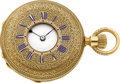 Timepieces:Pocket (pre 1900) , Patek Philippe & Co. Early Gold Keyless Demi-Hunter, circa1870. ...