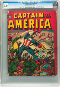 Captain America Comics 132-Page Issue (Timely, 1942) CGC GD/VG 3.0 Cream to off-white pages