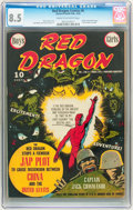 Golden Age (1938-1955):War, Red Dragon Comics #6 (Street & Smith, 1943) CGC VF+ 8.5 Cream to off-white pages....