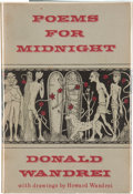 Books:Hardcover, Donald Wandrei Poems for Midnight (Arkham House, 1964)....