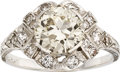 Estate Jewelry:Rings, Art Deco Diamond, Platinum Ring. ...