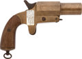 Military & Patriotic:WWI, All Brass WW I French Flare Pistol with Fascinating History....