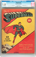 Golden Age (1938-1955):Superhero, Superman #2 (DC, 1939) CGC FR 1.0 Cream to off-white pages....