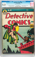 Golden Age (1938-1955):Superhero, Detective Comics #40 (DC, 1940) CGC VG 4.0 Cream to off-white pages....