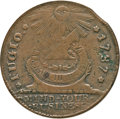 Colonials, 1787 1C Fugio Cent, STATES UNITED, 4 Cinquefoils, Pointed Rays--Corroded--ANACS. VF25 Details. Newman 16-N, W-6925, R.3....
