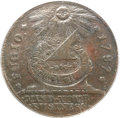 Colonials, 1787 1C Fugio Cent, STATES UNITED, 4 Cinquefoils, Pointed Rays XF40 ANACS. Newman 14-O, W-6875, R.4....